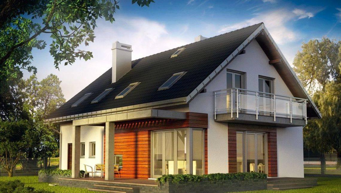 Небольшой загородный дом с мансардой и шестью спальнями