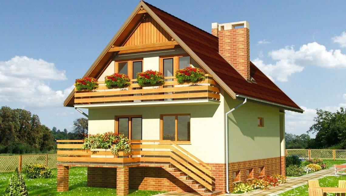 Стильный загородный коттедж с четырьмя большими комнатами