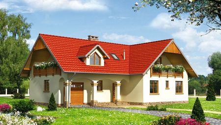Красивый загородный коттедж в современном средиземноморском стиле