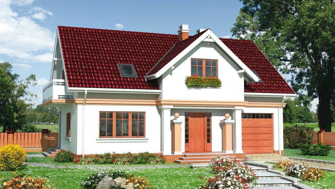 Загородный особняк с мансардой и площадью 180 m²