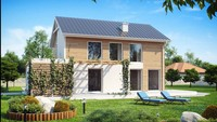Проект двухэтажного экономного в строительстве дома