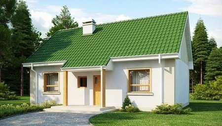 Аккуратный домик с большими окнами