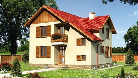 Проект интересного строения с декором из дерева