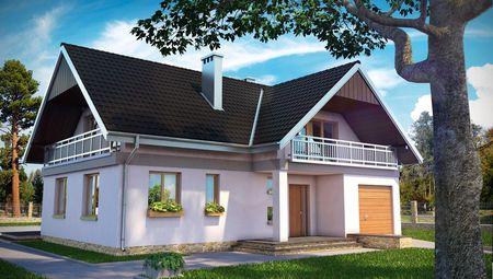 Привлекательное жилое строение с просторной гостиной зоной