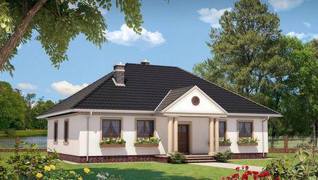 Красивый одноэтажный домик