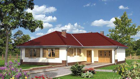 Одноэтажное строение с гаражом удобной планировки
