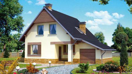 Проект уютного дома на два этажа жилой площадью до 100м2