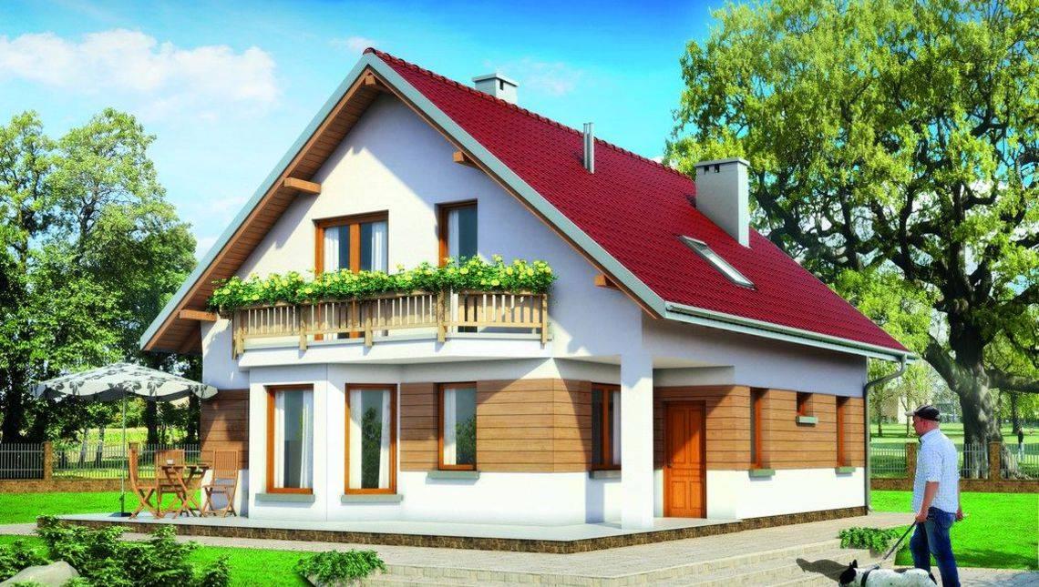Мансардный дом с презентабельной гостиной