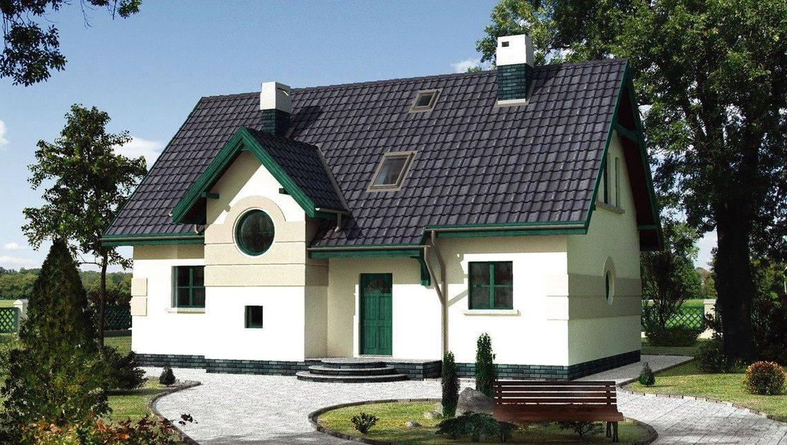 Видное жилое строение с круглыми террасами