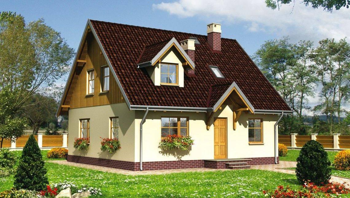 План жилого дома с двумя спальнями на первом этаже