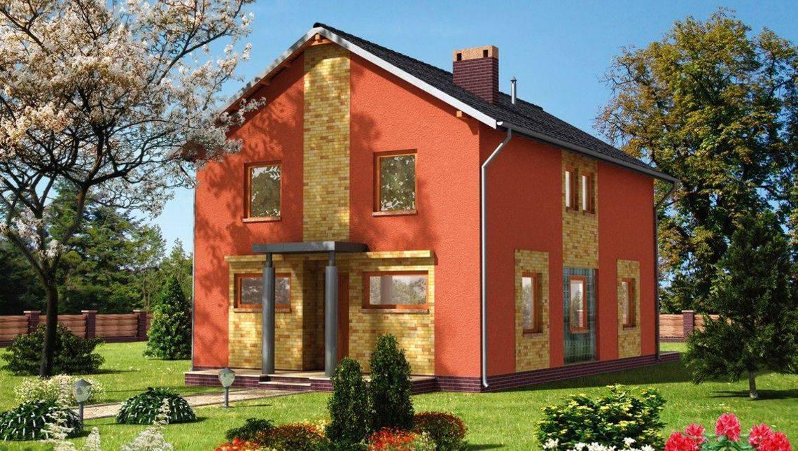 Двухэтажный жилой дом удобной планировки