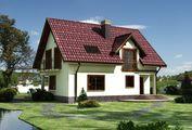 Проект особняка в классическом стиле с полукруглыми верандами