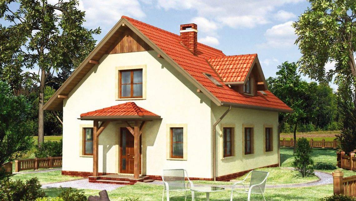 Элегантный проект дома с мансардой более 150 m²