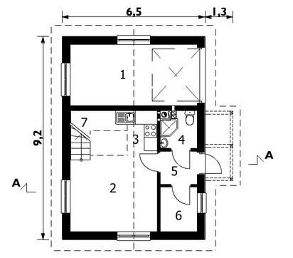 Гараж с чердачным жилым помещением