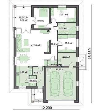 Изысканное строение в один этаж