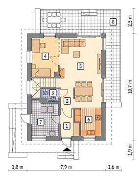 Милый двухэтажный дом на 5 спален