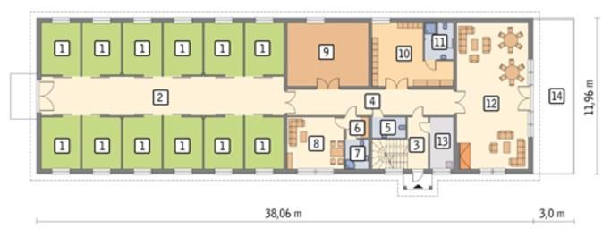 Двухэтажная конюшня с жилыми апартаментами
