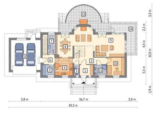 Проект привлекательного жилого дома