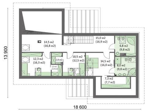 Интересный проект особняка с кухней-студией