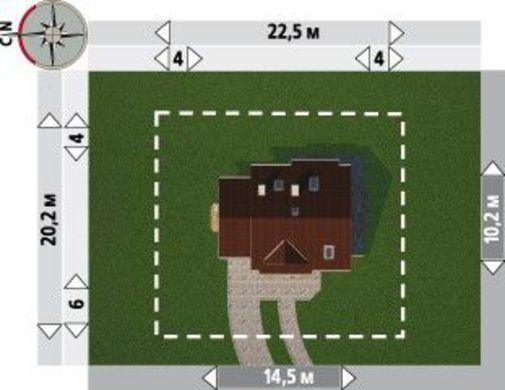 Коттедж площадью более 150 m² с угловым эркером
