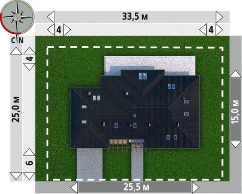 Красивый загородный дом для большой семьи с просторными комнатами и гаражом