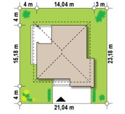 Проект 2х этажного дома со сдвоенным гаражом