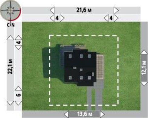 Компактная загородная усадьба с площадью 175 m²