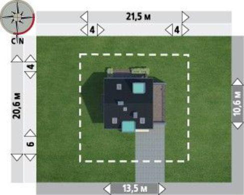Проект сногсшибательной усадьбы с гаражом и огромным балконом