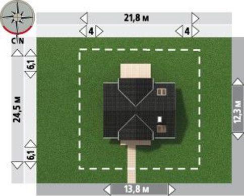 Проект стильной загородной виллы с мансардой и площадью более 200 m²