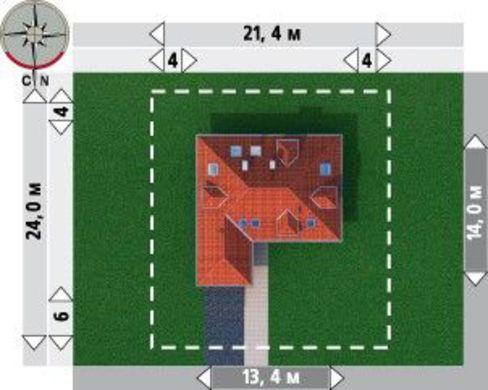 Превосходный загородный коттедж с большой террасой и компактным гаражом