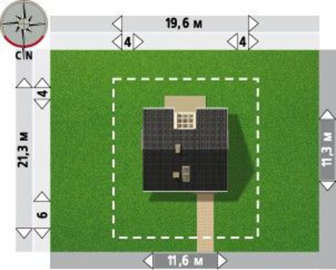 Проект мансардного коттеджа 170 m² в традиционном стиле