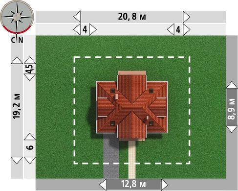 Проект коттеджа с мансардой 12 на 12 м