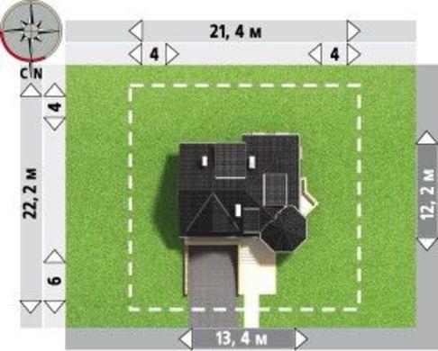 Выделяющийся проект дома с гаражом на 2 авто в цокольном этаже