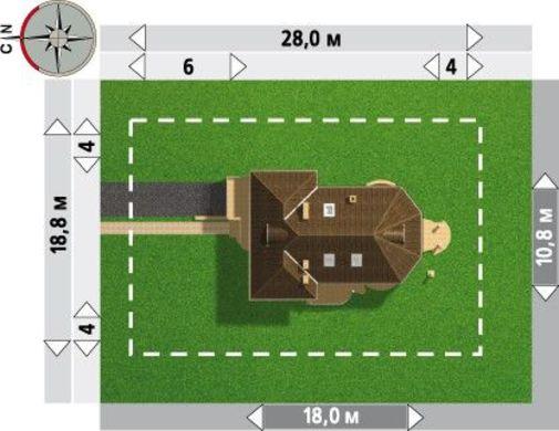 План презентабельного жилого дома уникальной планировки с цокольным этажом