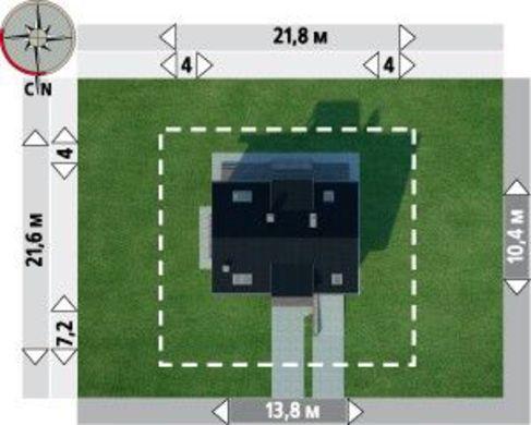 План двухэтажного особняка с красивыми эркерами