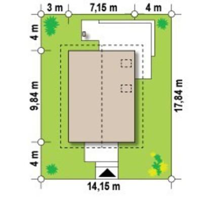 Проект малогабаритного коттеджа для узкого участка