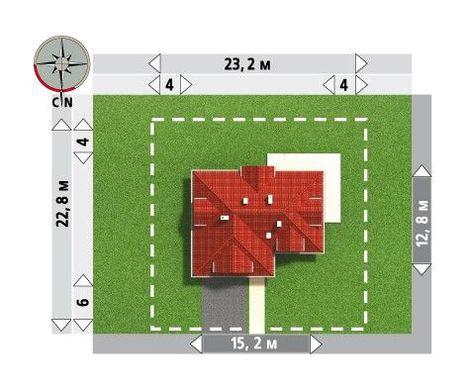 План современного загородного особняка с гаражом на две машины