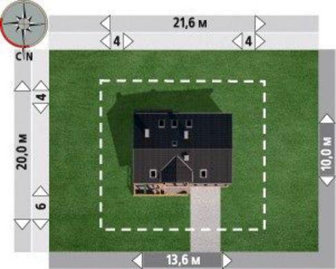 Проект дома с гаражом на 2 авто в цокольном этаже