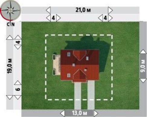 Проект для строительства уютного мансардного дома с пристроенным гаражом