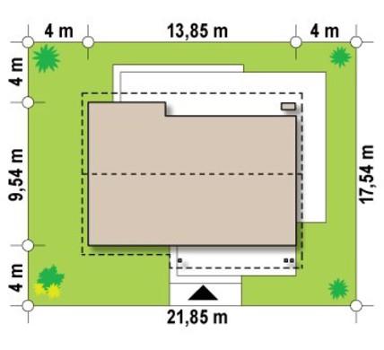 Большой одноэтажный дом с чердаком