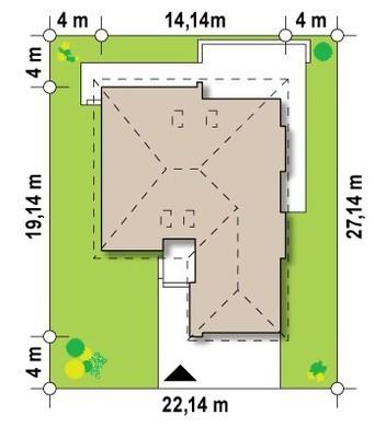 Одноэтажный дачный дом в традиционном стиле