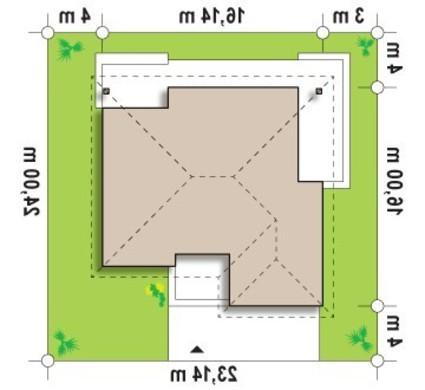 Проект просторного коттеджа с мансардой и гаражом для 2 автомобилей