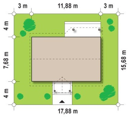 Проект уютного одноэтажного домика с двумя спальнями