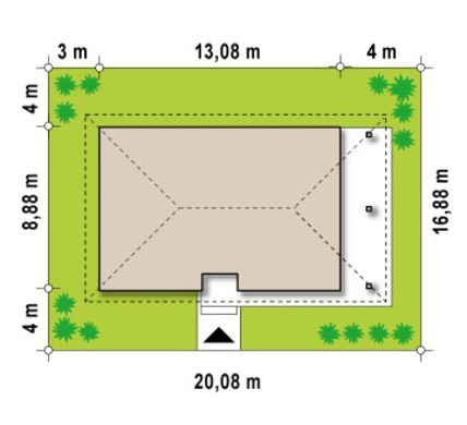 Проект мансардного дома с четырьмя спальнями