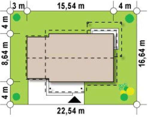 Проект комфортабельного классического одноэтажного дома с гаражом