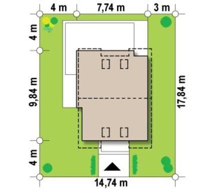 Проект компактного двухэтажного коттеджа с 3-мя спальнями