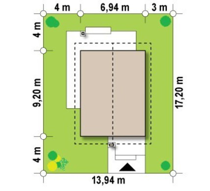 Проект 2х этажного небольшого коттеджа для узкого участка
