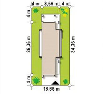 Стильный современный коттедж для узкого участка