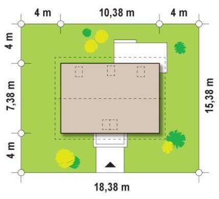 Проект загородного коттеджа с мансардой для небольшого участка