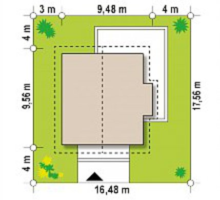 Уютный коттедж с гостевой спальней на первом этаже